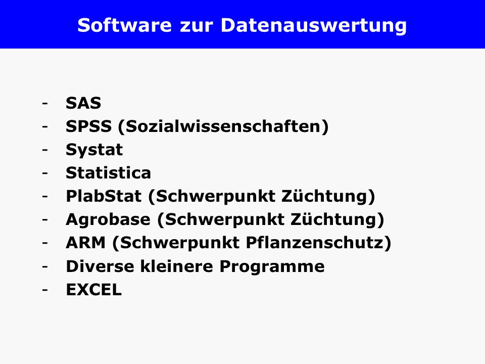 Software zur Datenauswertung