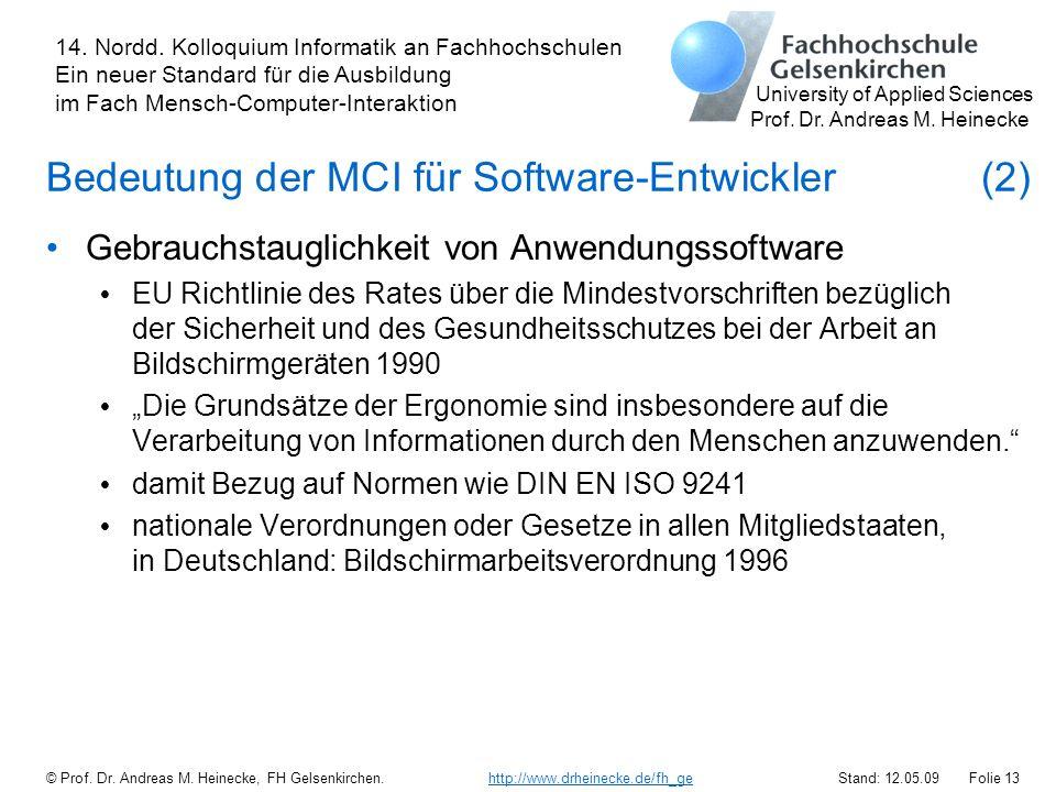 Bedeutung der MCI für Software-Entwickler (2)