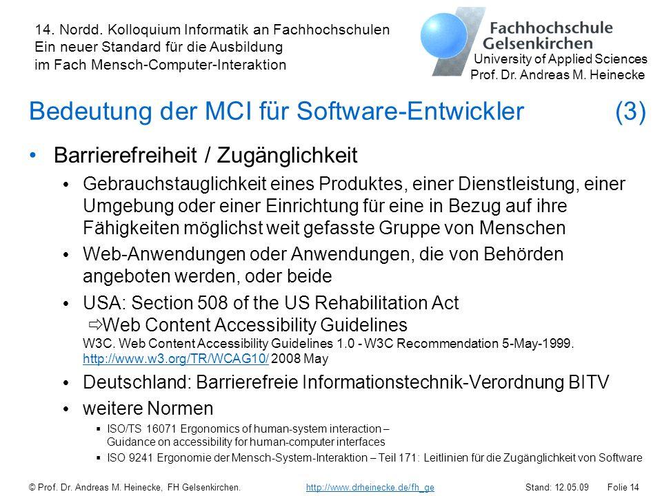 Bedeutung der MCI für Software-Entwickler (3)