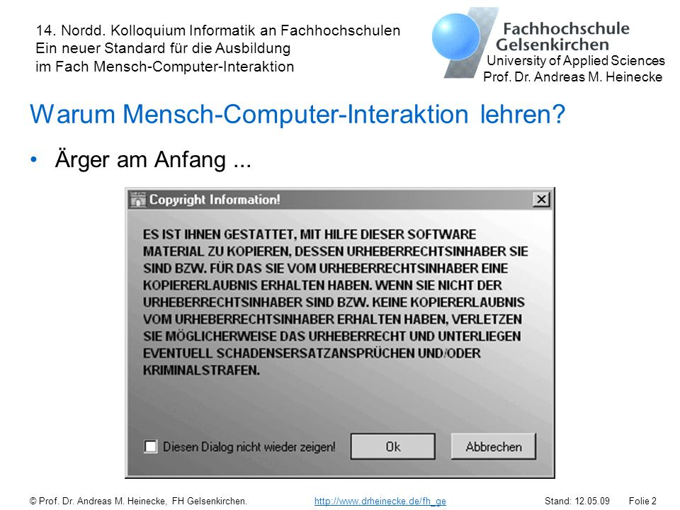 Warum Mensch-Computer-Interaktion lehren