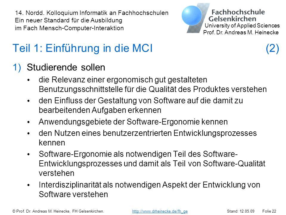 Teil 1: Einführung in die MCI (2)