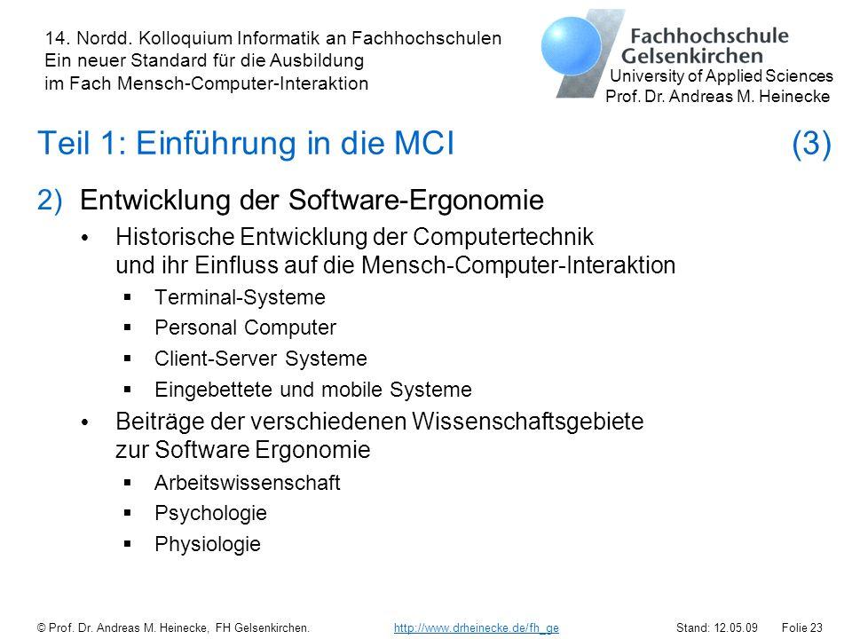 Teil 1: Einführung in die MCI (3)