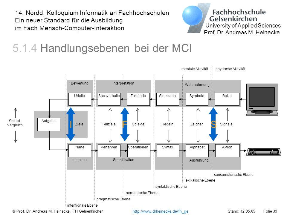 5.1.4 Handlungsebenen bei der MCI