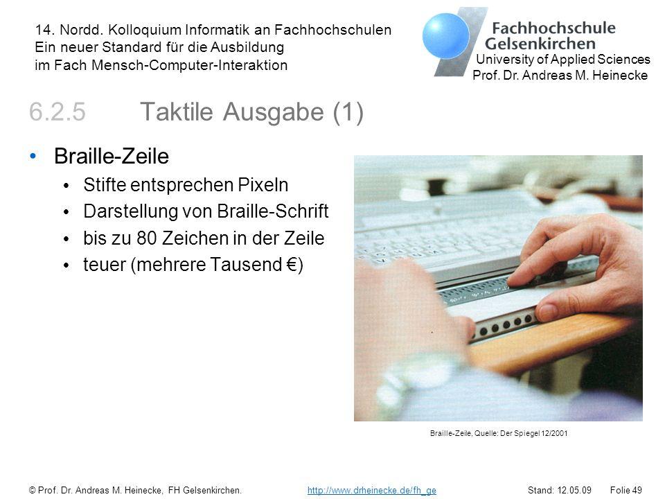 Braille-Zeile, Quelle: Der Spiegel 12/2001