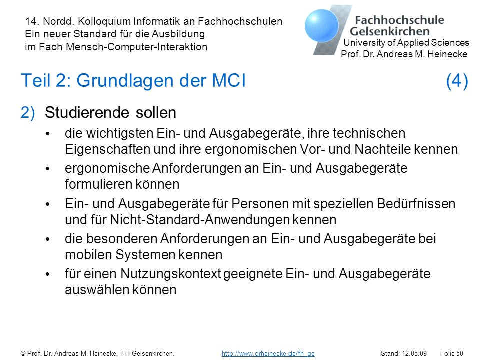 Teil 2: Grundlagen der MCI (4)