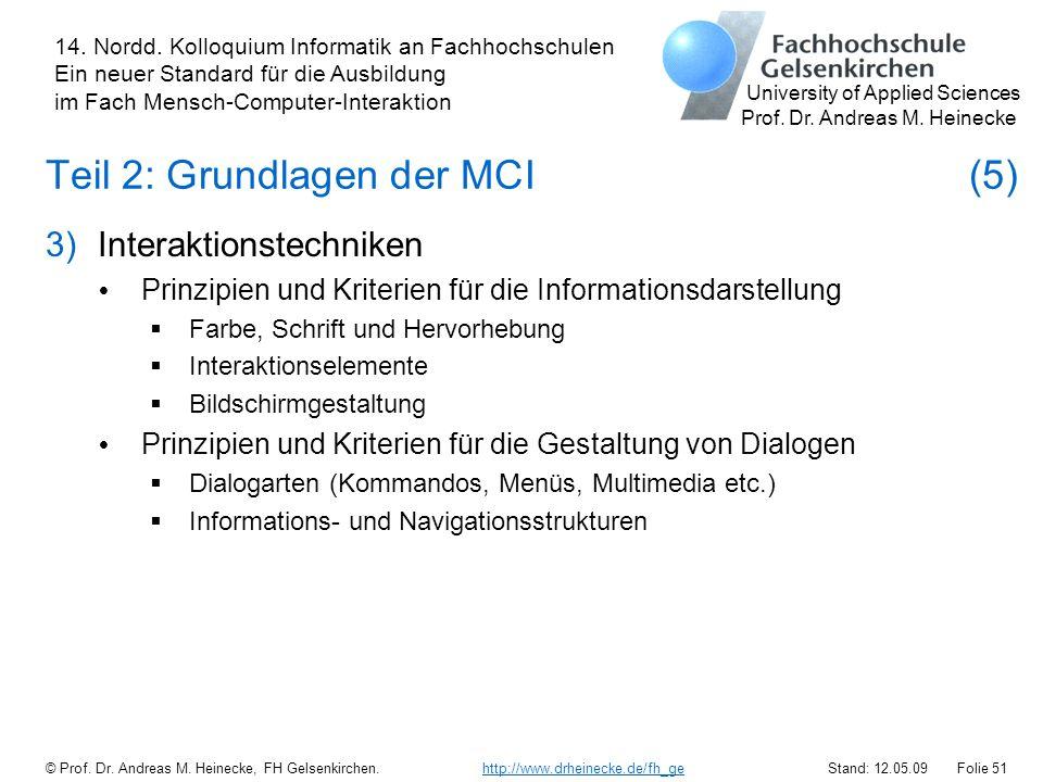 Teil 2: Grundlagen der MCI (5)