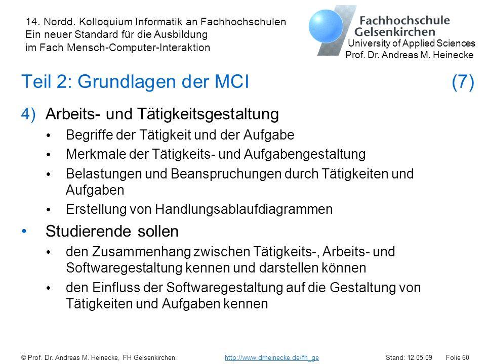 Teil 2: Grundlagen der MCI (7)