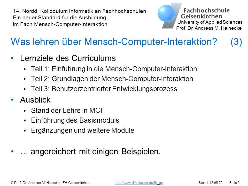 Was lehren über Mensch-Computer-Interaktion (3)