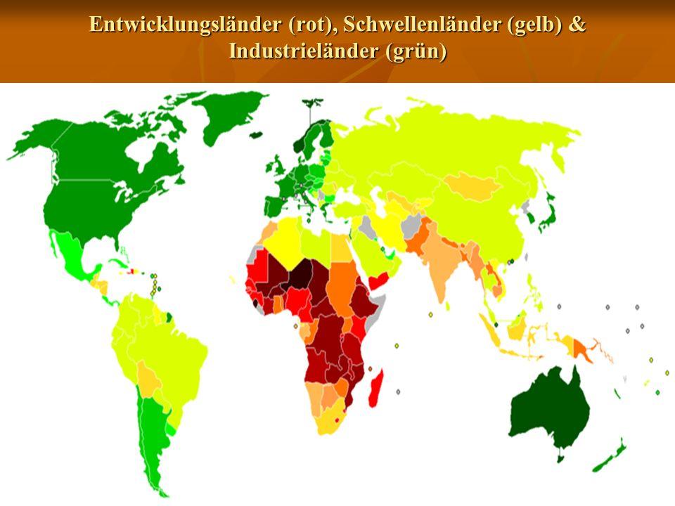 1 entwicklungslnder rot schwellenlnder gelb industrielnder grn - Entwicklungslander Beispiele