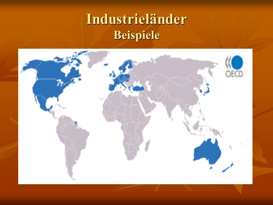 Industrieländer Beispiele