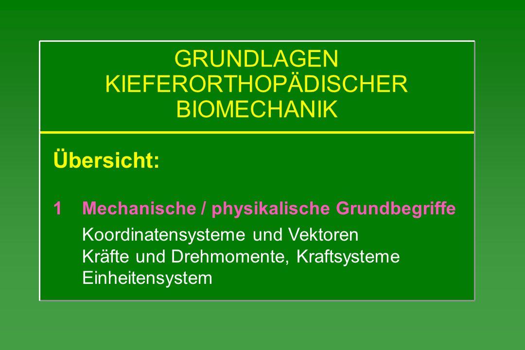 GRUNDLAGEN KIEFERORTHOPÄDISCHER BIOMECHANIK