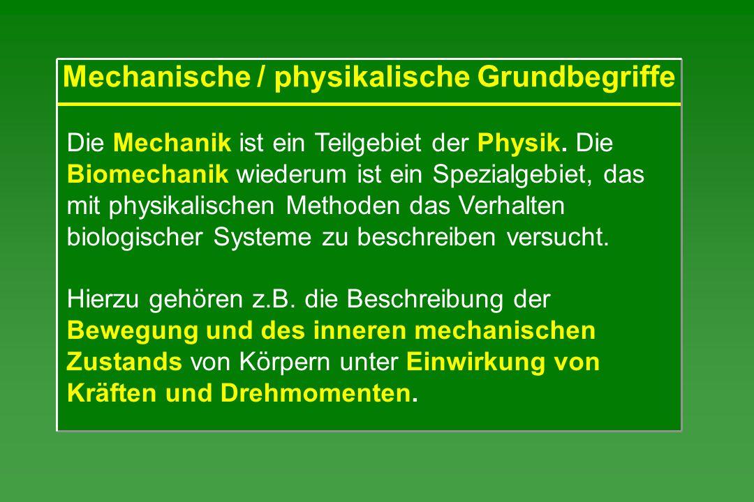 Mechanische / physikalische Grundbegriffe