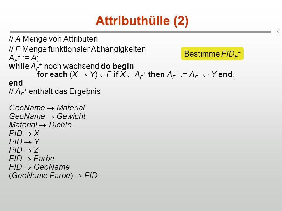 Attributhülle (2) // A Menge von Attributen