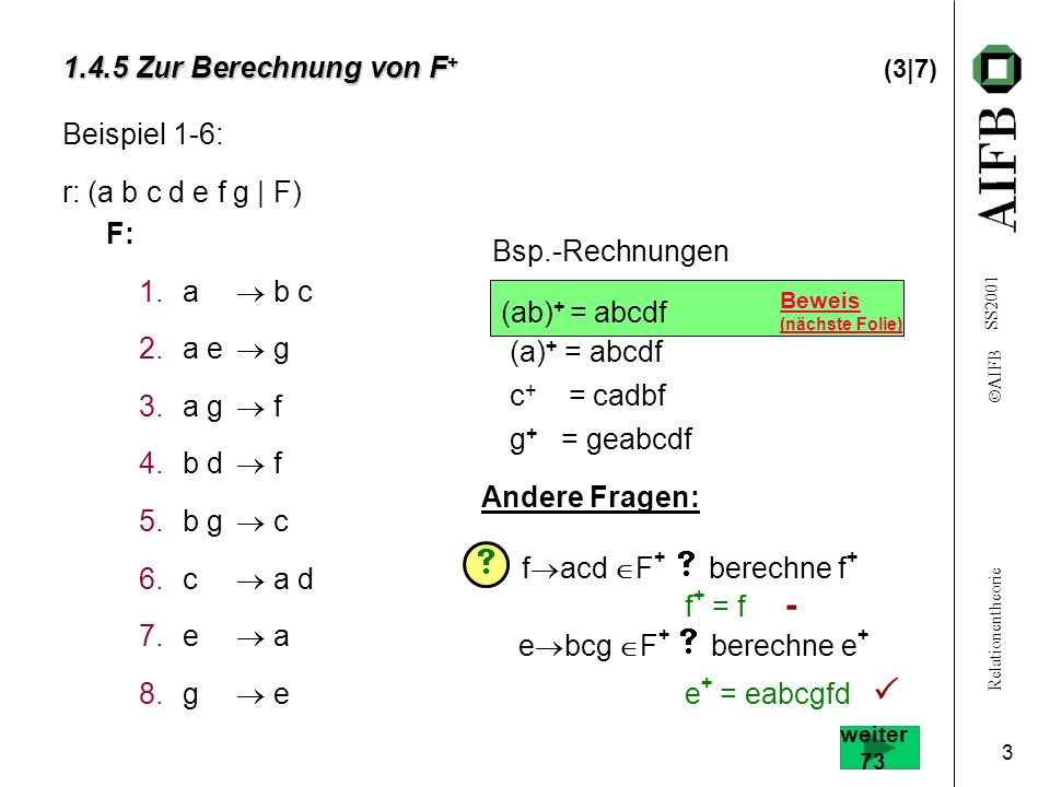 1.4.5 Zur Berechnung von F+ (3|7)
