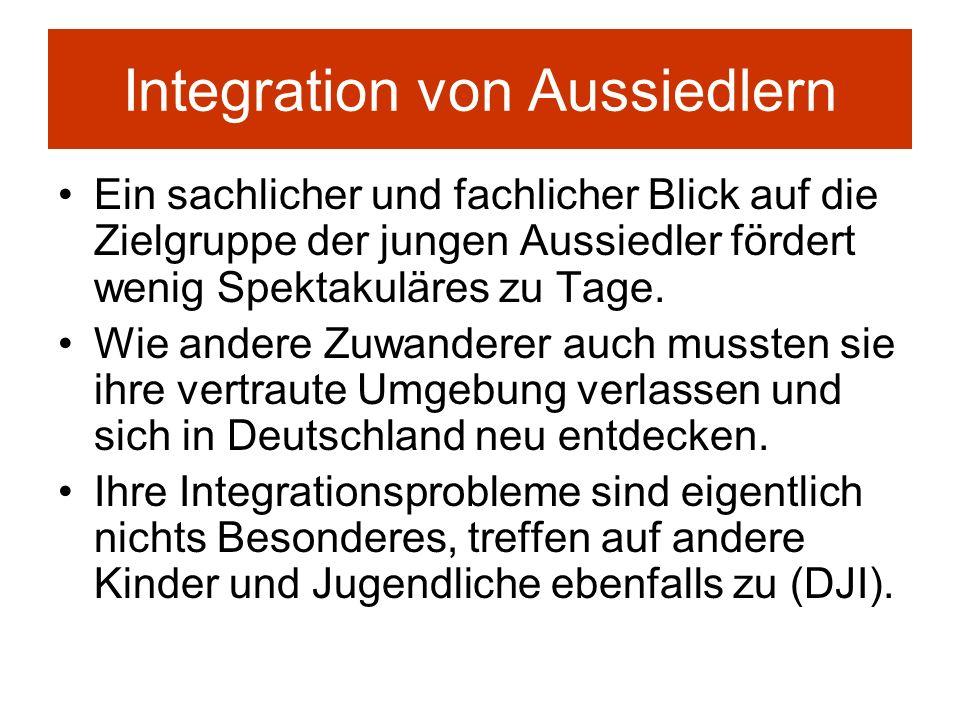 Integration von Aussiedlern