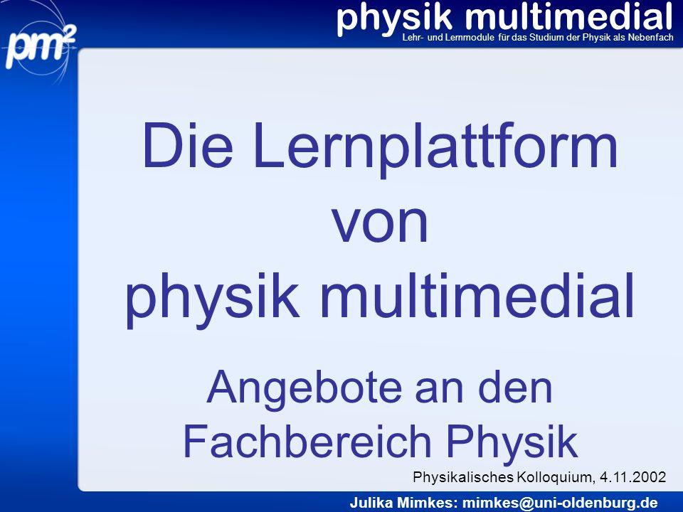 Die Lernplattform von physik multimedial