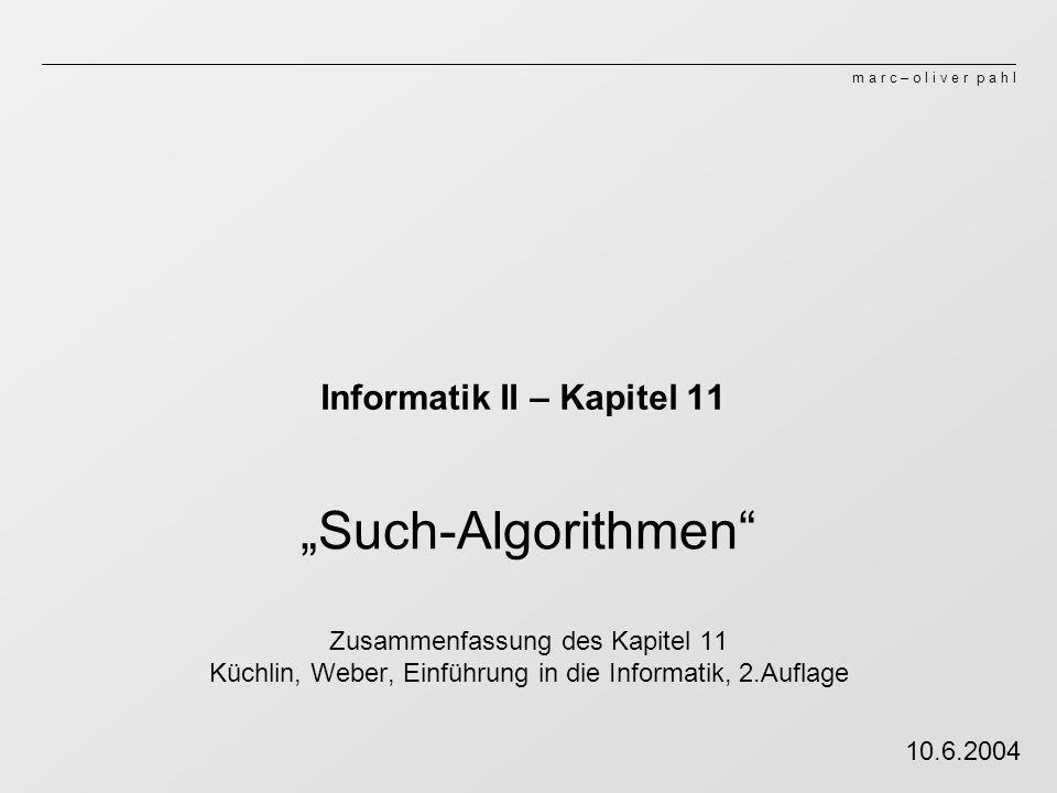 Informatik II – Kapitel 11