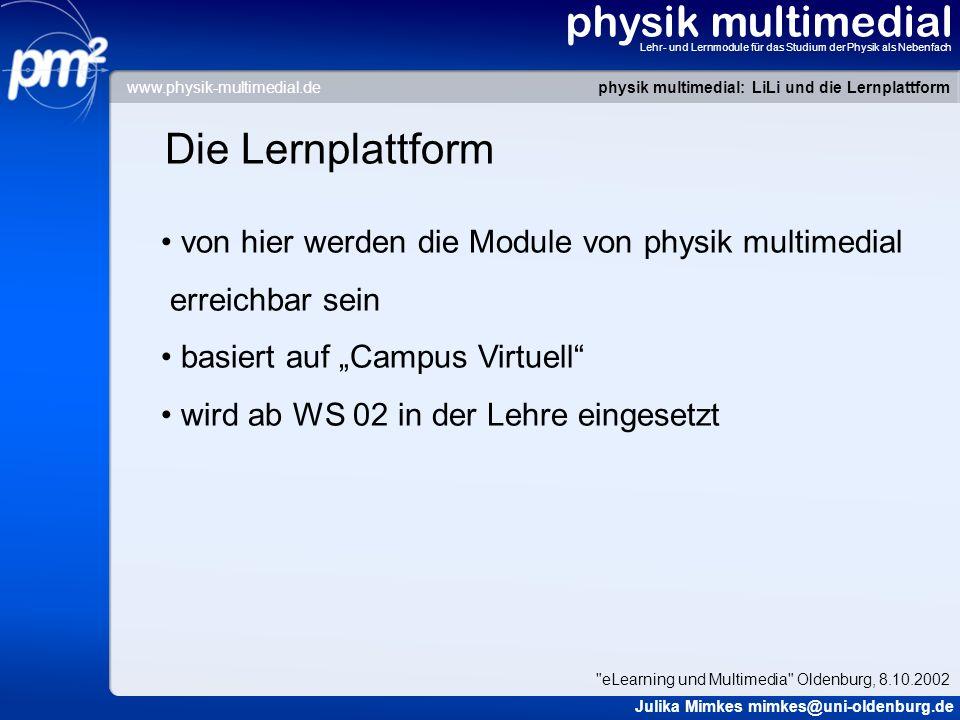 physik multimedial Die Lernplattform
