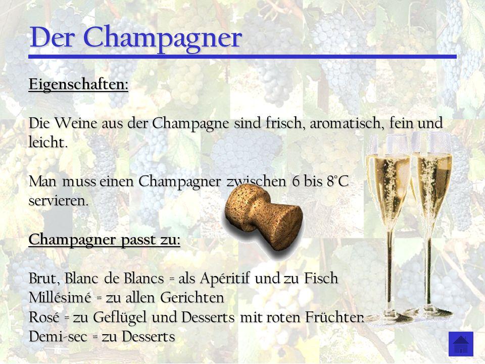 Der Champagner Eigenschaften:
