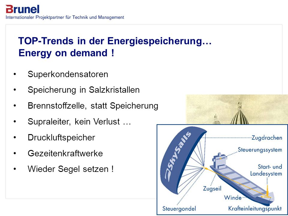 TOP-Trends in der Energiespeicherung… Energy on demand !