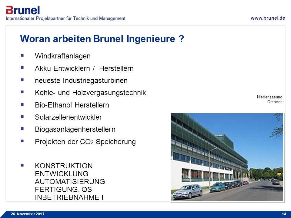 Woran arbeiten Brunel Ingenieure