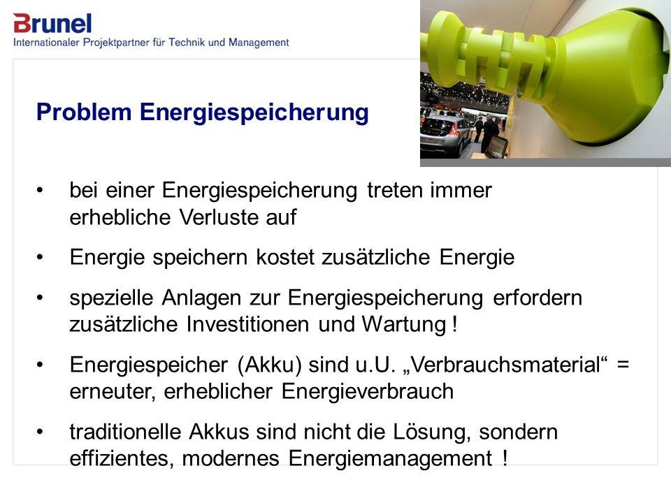 Das Unternehmen Problem Energiespeicherung