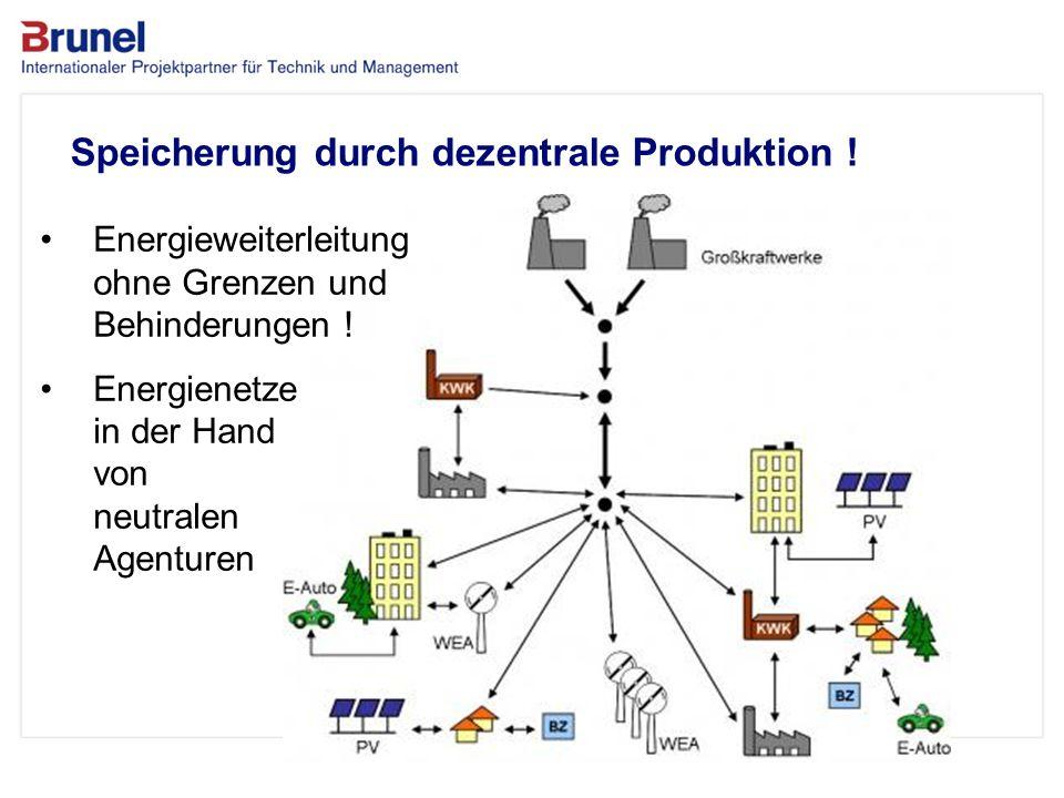 Das Unternehmen Speicherung durch dezentrale Produktion !