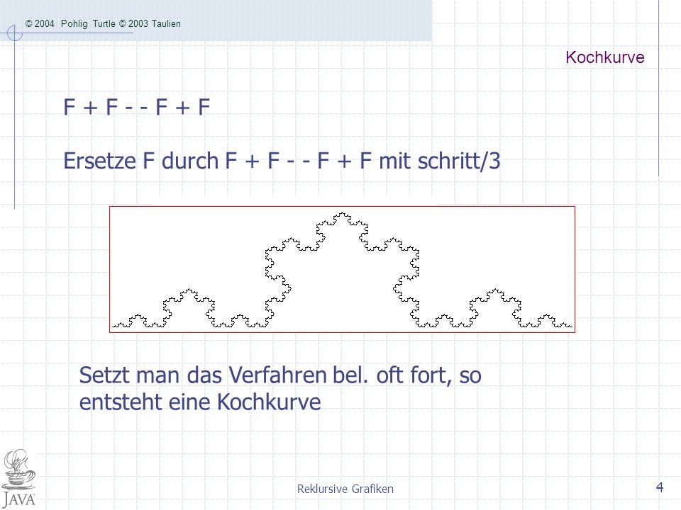 Ersetze F durch F + F - - F + F mit schritt/3