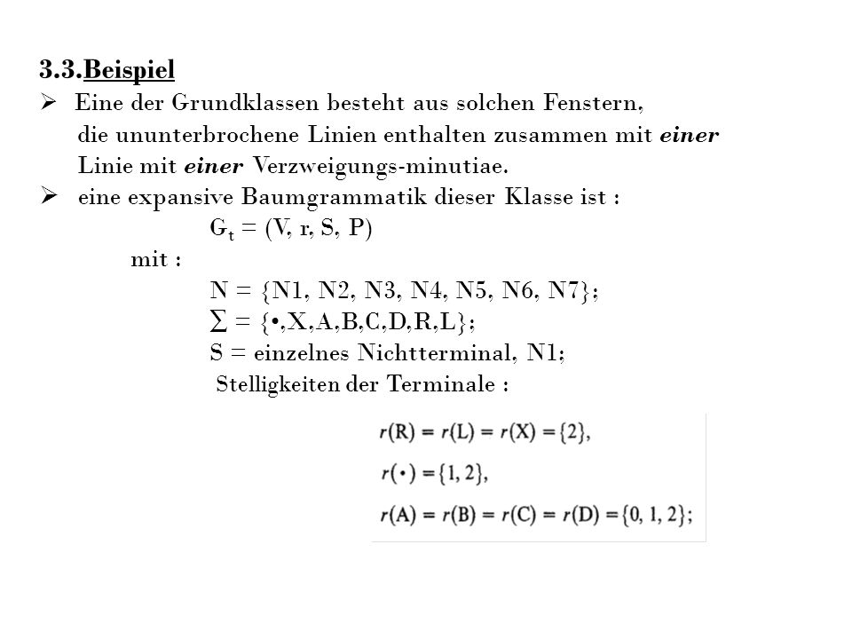 3.3.Beispiel die ununterbrochene Linien enthalten zusammen mit einer