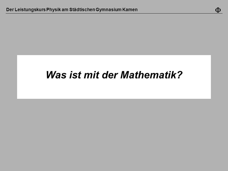 Was ist mit der Mathematik