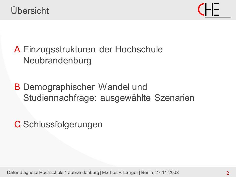 Einzugsstrukturen der Hochschule Neubrandenburg
