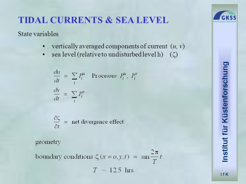 TIDAL CURRENTS & SEA LEVEL