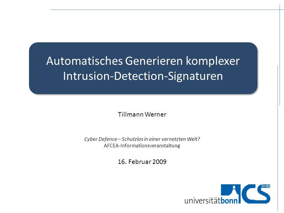 Automatisches Generieren komplexer Intrusion-Detection-Signaturen