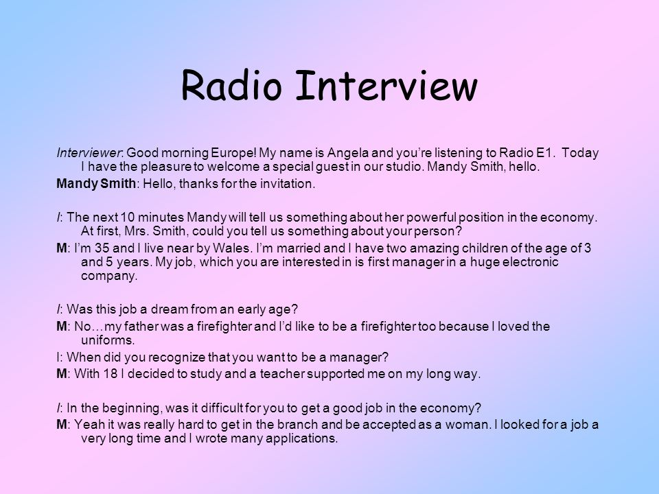 Radio Interview