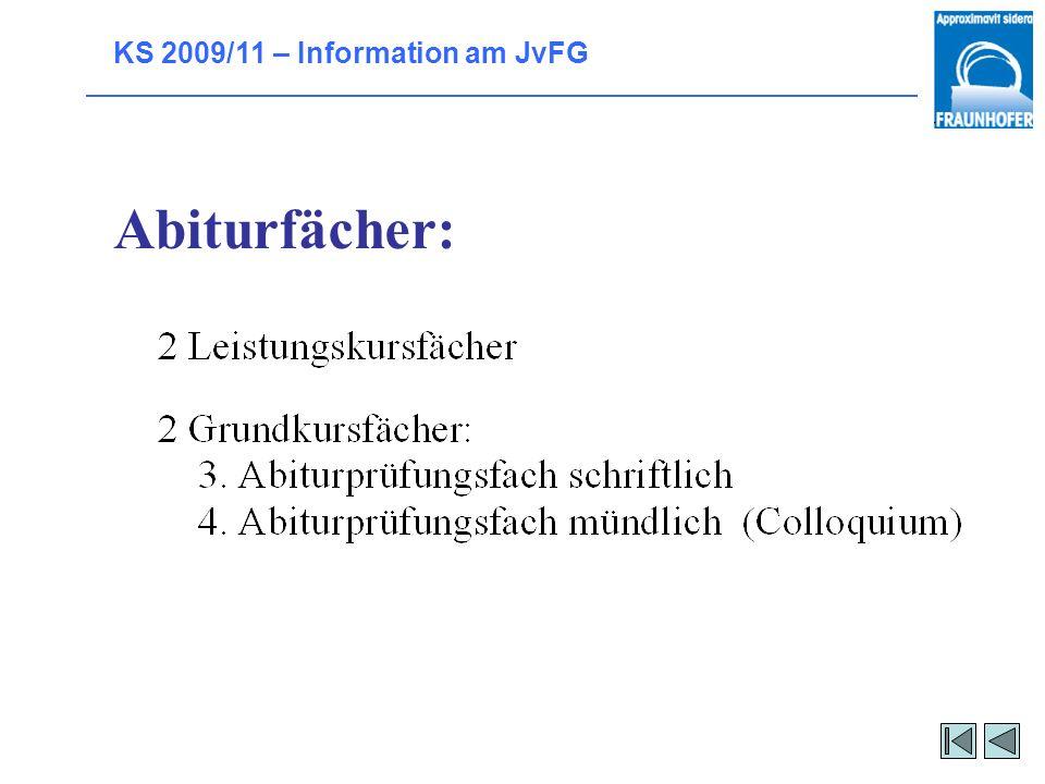 Abiturfächer: