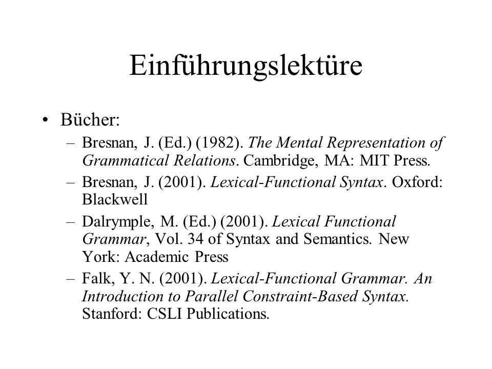 Einführungslektüre Bücher: