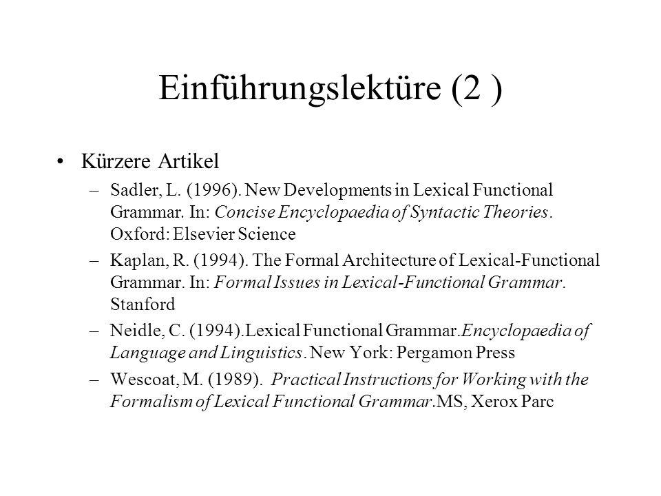 Einführungslektüre (2 )
