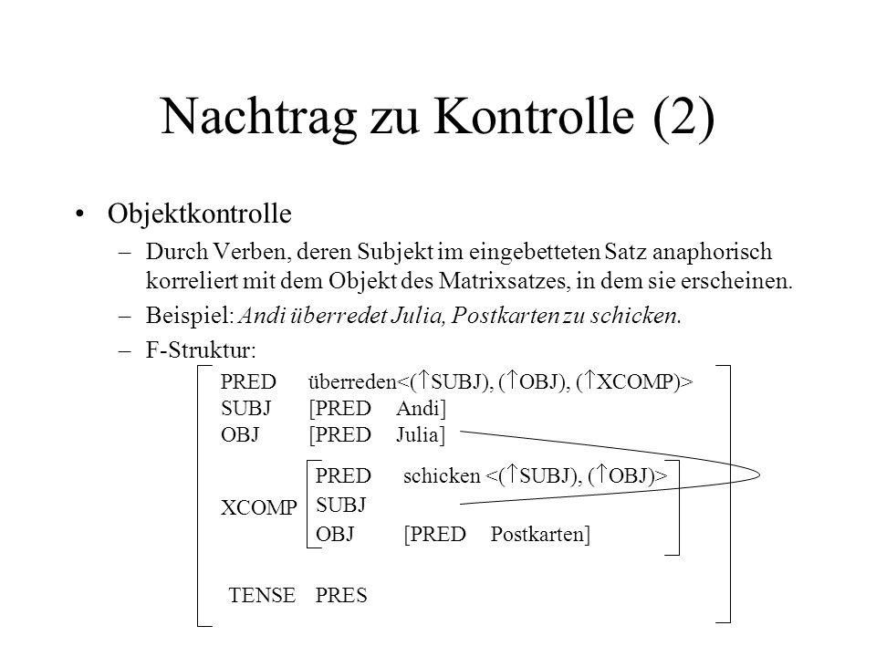 Nachtrag zu Kontrolle (2)