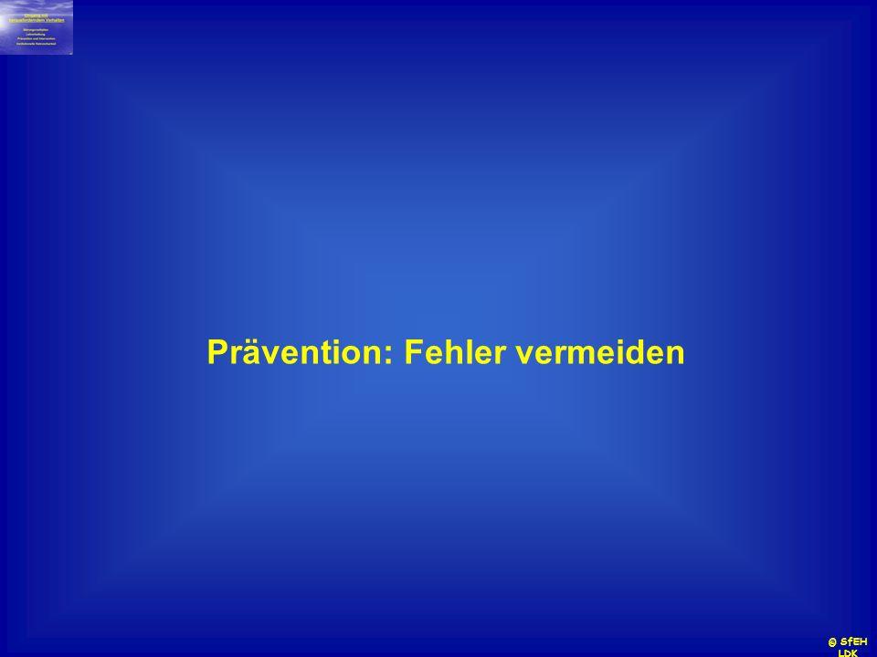 Prävention: Fehler vermeiden
