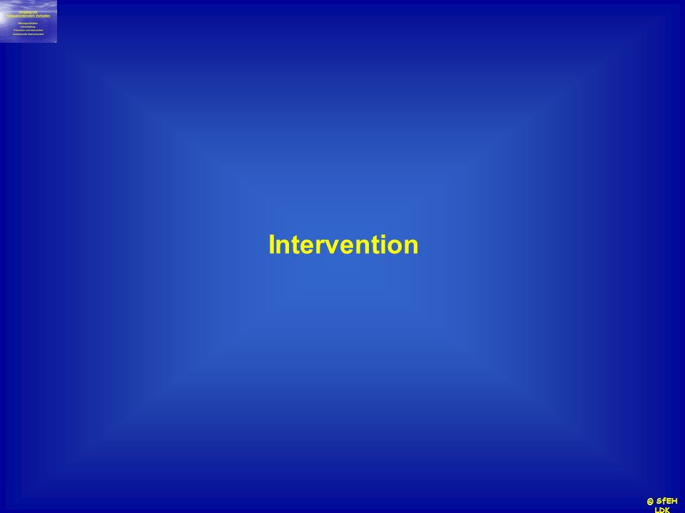 Intervention © SfEH LDK