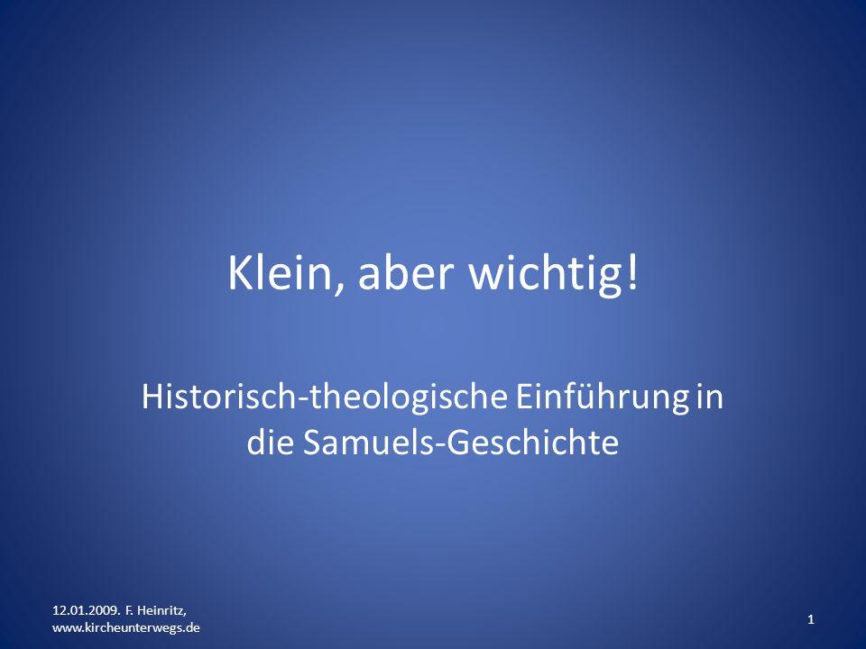 Historisch-theologische Einführung in die Samuels-Geschichte
