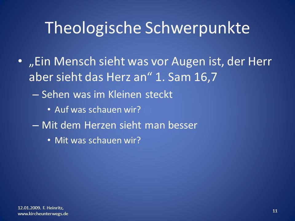 Theologische Schwerpunkte