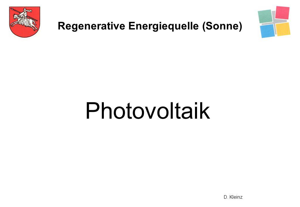 Regenerative Energiequelle (Sonne)