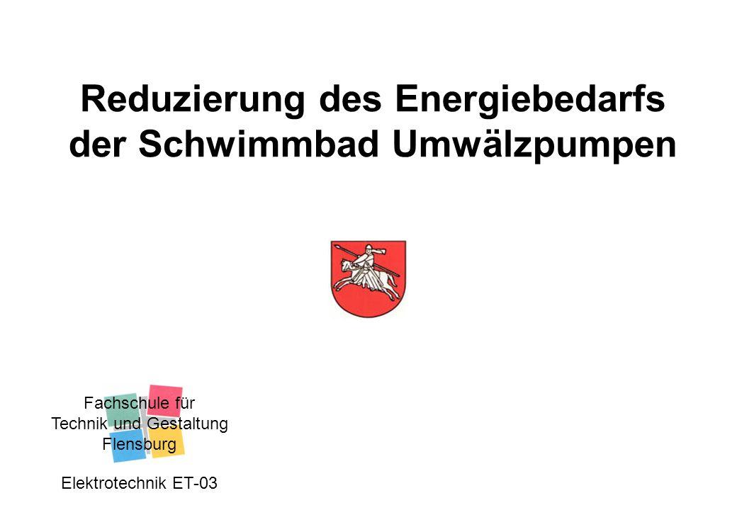 Reduzierung des Energiebedarfs der Schwimmbad Umwälzpumpen