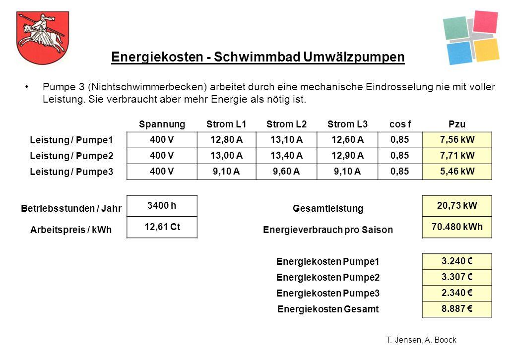 Energiekosten - Schwimmbad Umwälzpumpen
