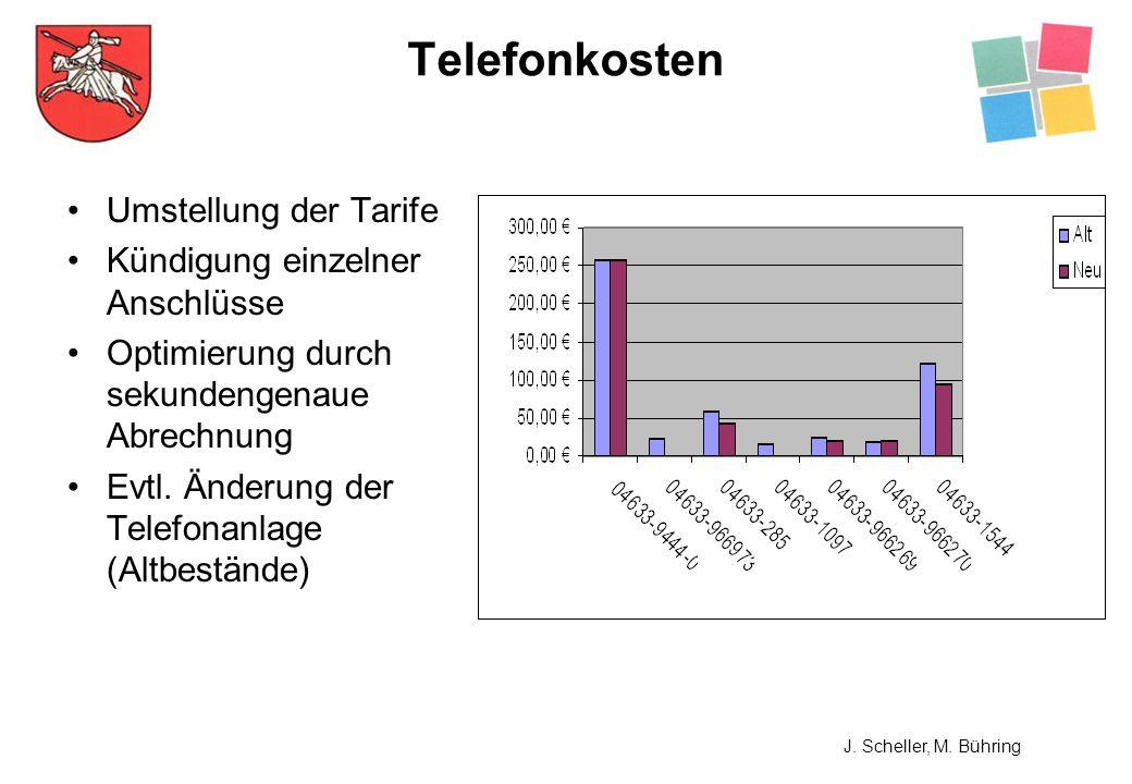 Telefonkosten Umstellung der Tarife Kündigung einzelner Anschlüsse