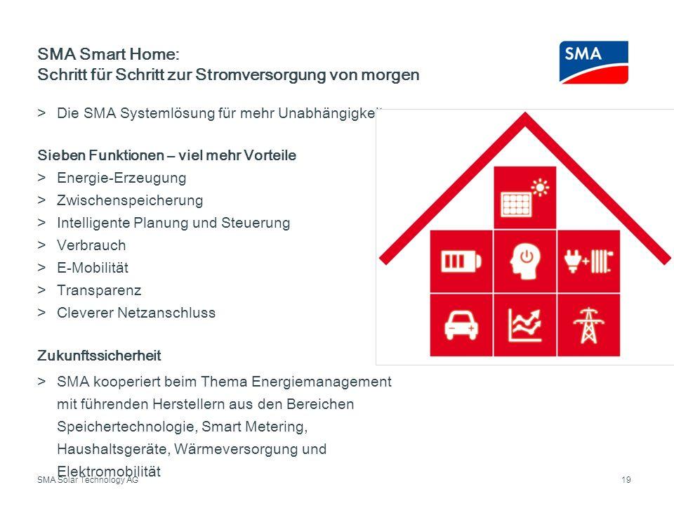 SMA Smart Home: Schritt für Schritt zur Stromversorgung von morgen