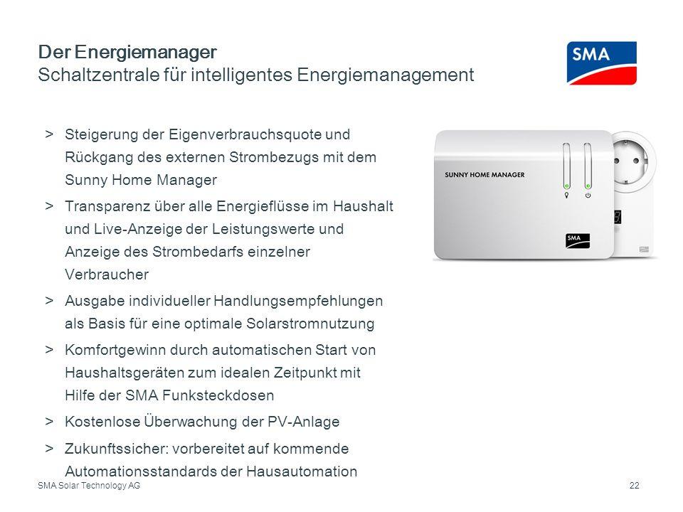 Der Energiemanager Schaltzentrale für intelligentes Energiemanagement