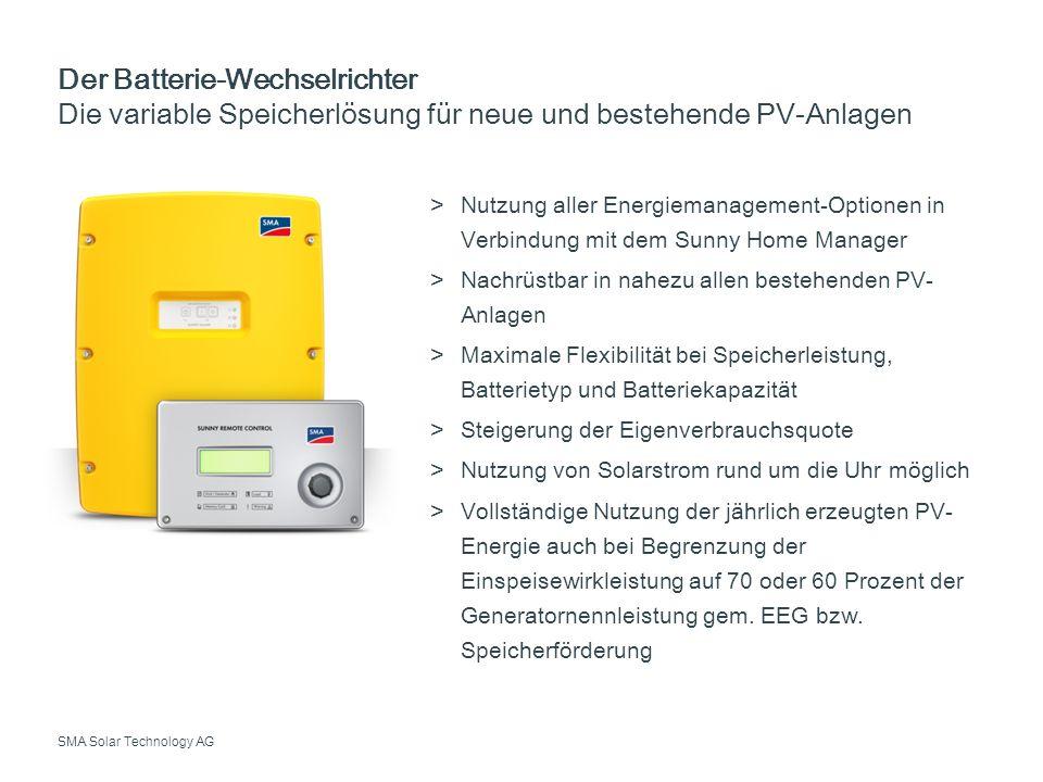 Der Batterie-Wechselrichter Die variable Speicherlösung für neue und bestehende PV-Anlagen