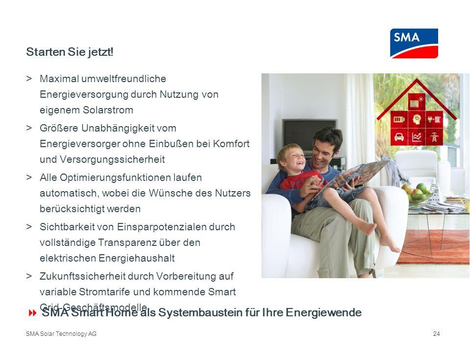  SMA Smart Home als Systembaustein für Ihre Energiewende